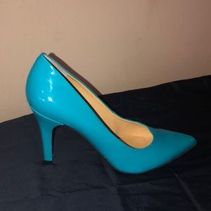 NINE WEST TURQUOISE PUMPS *cheap*
